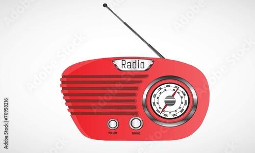 Photo Radio Retro Roja