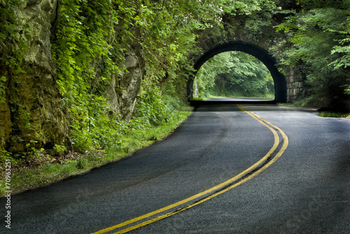 Canvas Print Smoky Mountain Tunnel