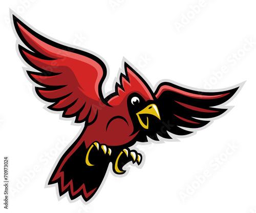 Foto flying cardinal bird