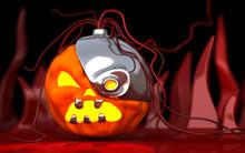 Robotic Halloween Pumpkin. Tec...
