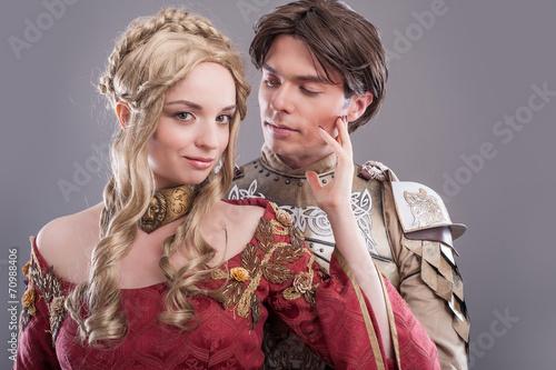 Fotografie, Obraz  Medieval lovers