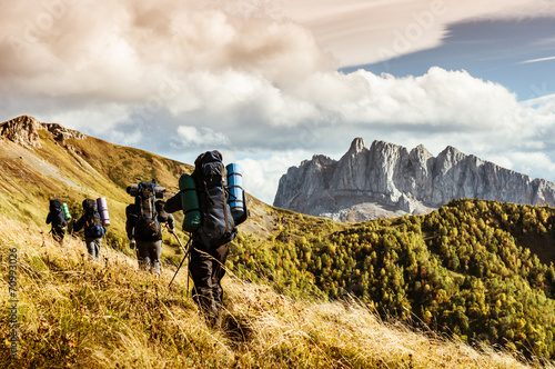 Fotografia hiking in the mountains