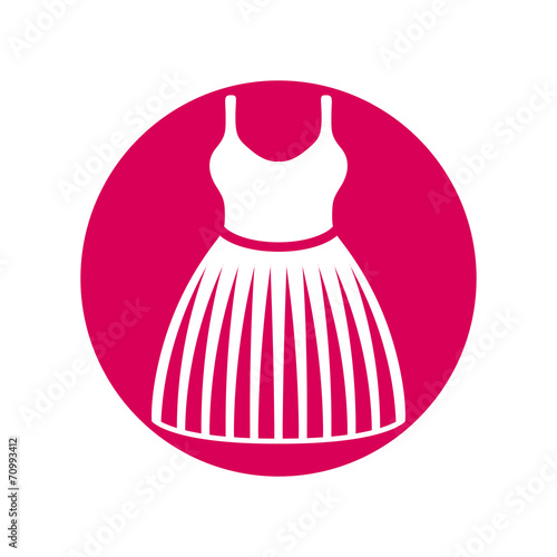 Fotografie, Obraz  Cloth icon, vector illustration of dress with a skirt.