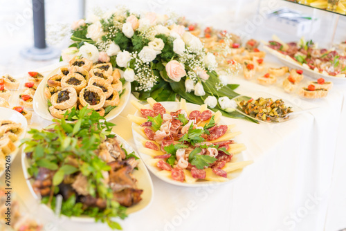 Fotografie, Obraz  Wedding Catering Food