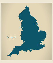 Modern Map - England UK