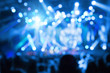 canvas print picture - Defocused crowd on a concert.