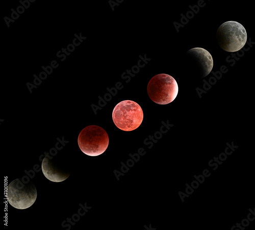 Moon eclipse mosaic #71001096
