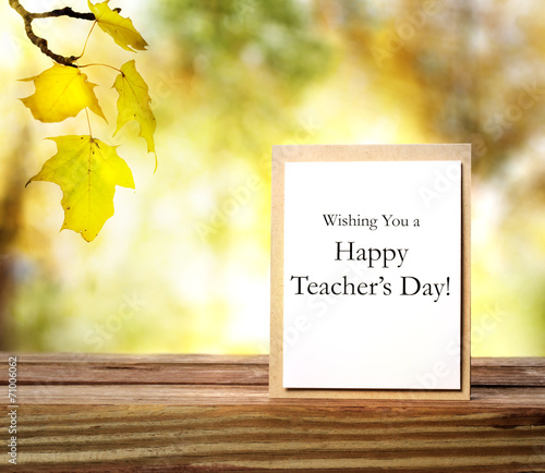 Happy teachers day greeting card - Buy this stock photo and