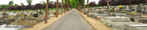 Foto op Canvas Begraafplaats France, the picturesque city of Saint Germain en Laye