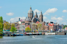 View Of The Church Of St. Nicholas In Amsterdam