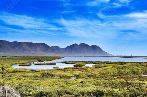salt flats in Cabo de Gata-Nijar Natural Park, in Spain