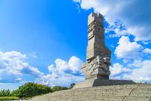 Westerplatte. Monument Commemorating Battle Of Second World War