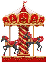 A Carousel Ride With Horses
