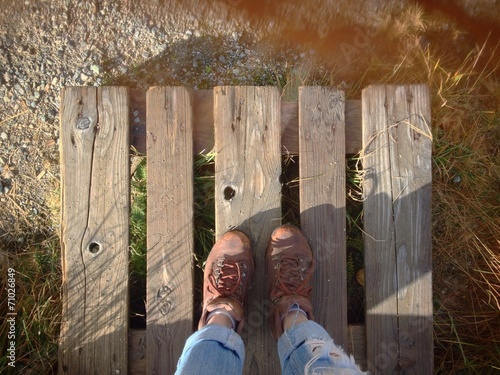 Photo  Step on a hiking trail