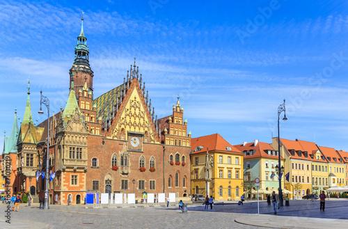 Fotografia  Ratusz, Rynek Starego Miasta we Wrocławiu