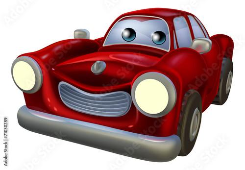 Staande foto Cartoon cars Cartoon car mascot