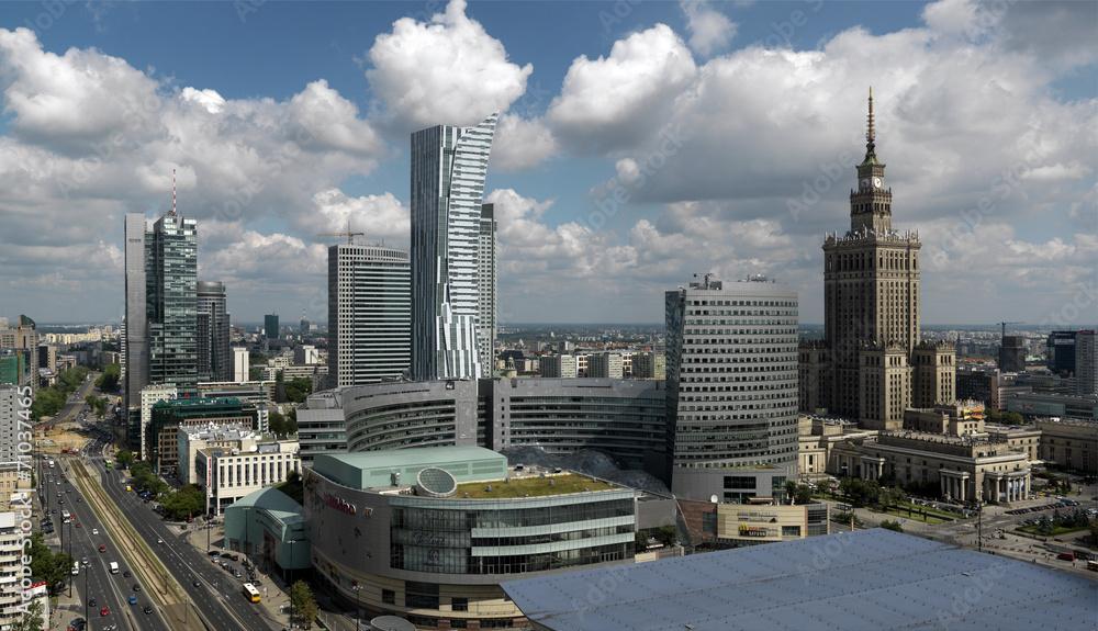 Fototapety, obrazy: Warszawa,widok centrum
