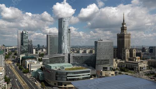 fototapeta na szkło Warszawa, Widok Centrum