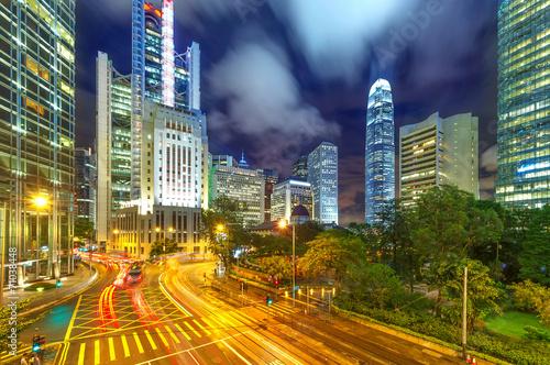 Poster Tokyo Modern city at night, Hong Kong, China.