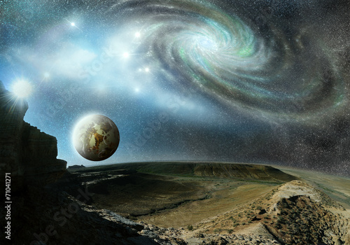 plakat kosmos kosmiczne góry