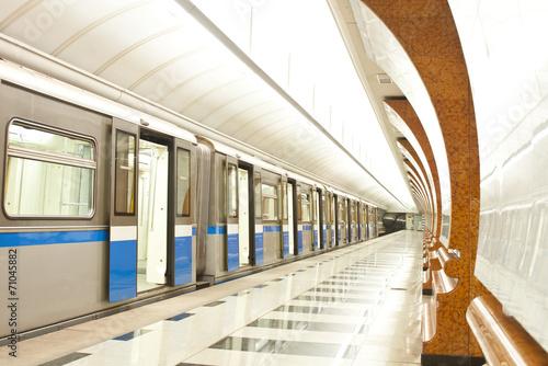 Fotografie, Obraz  Metro train at subway station
