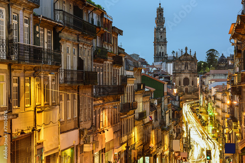 Fototapety, obrazy: Porto, Portugal Cityscape Viewed Towards Clerigo Church
