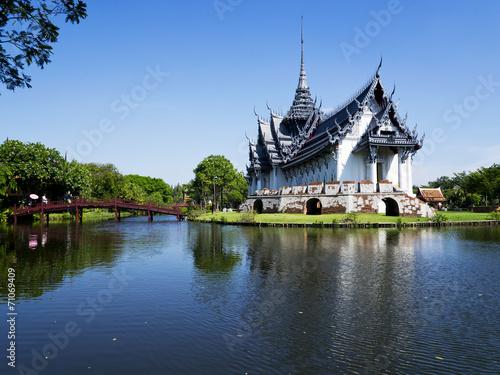 Photo Stands Bangkok Sanphet Prasat Palace at Ancient City