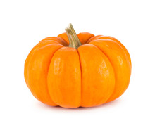 Mini Orange Pumpkin Isolated O...