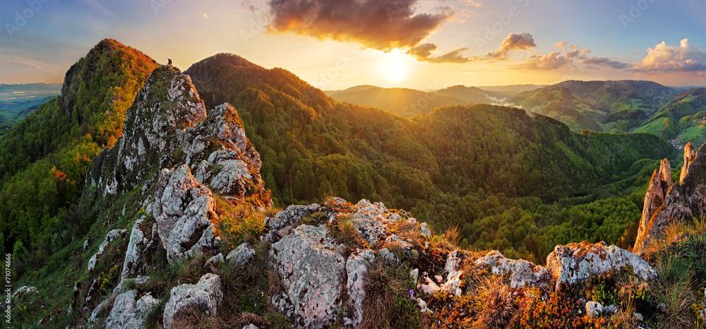 Fototapety, obrazy: Slovakia mountain at spring - Vrsatec