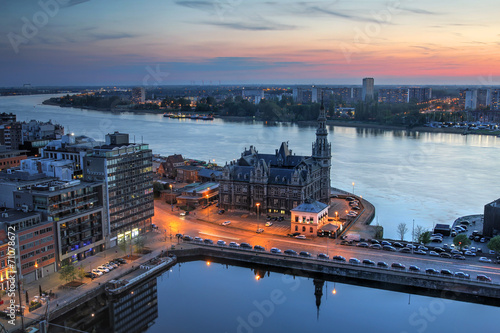 Photo sur Toile Antwerp Aerial of Antwerp, Belgium