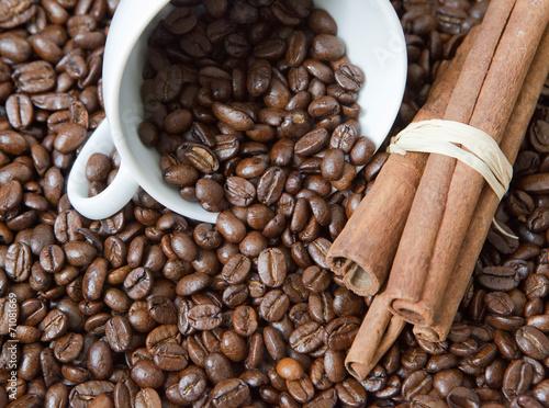Deurstickers koffiebar café et battons de cannelle