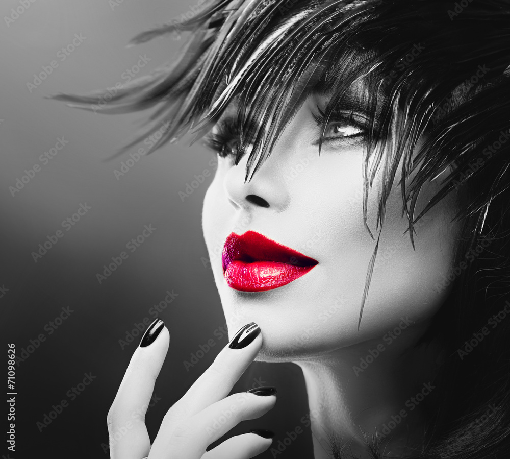 Fototapeta Fashion Art Portrait Of Beautiful Girl. Vogue Style Woman