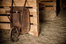 Aged Barrow In The Barn