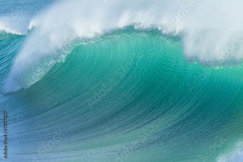 Ocean Wave Crashing Closeup