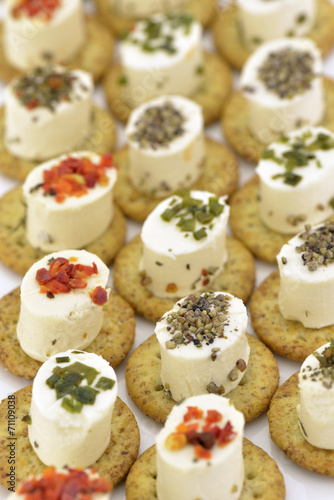 Poster Cheese appetizer with biscuit