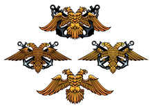 Double Headed Imperial Nautical Eagle Icons