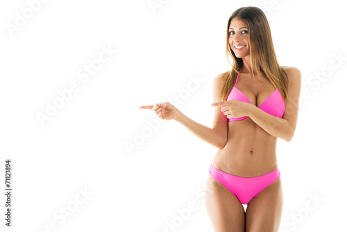 Obraz Attractive girl in a bikini - fototapety do salonu