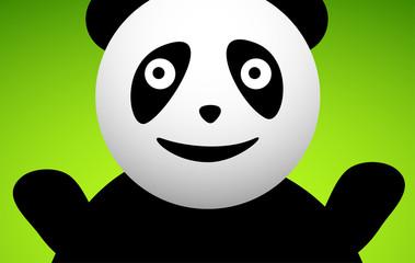 Panel Szklany Panda Panda cartoon character