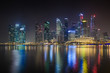 Singapore city skyline at Marina Bay