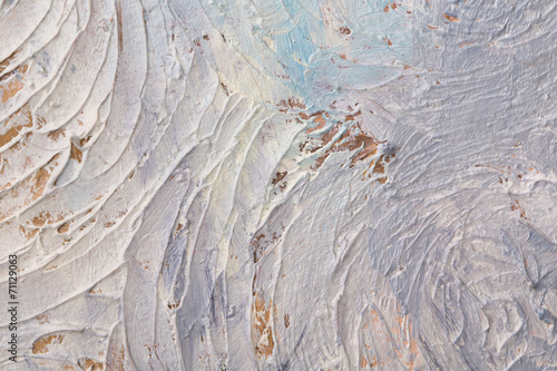 Abstract painting of brush strokes. © indigolotos