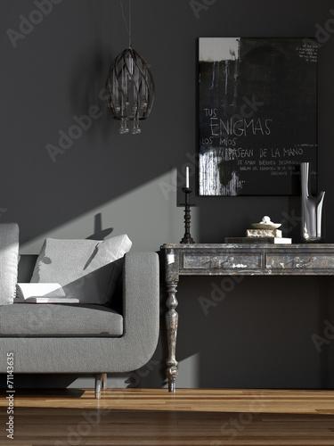 wohnzimmer mobel kombinieren, wohnzimmer alte und neue möbel kombiniert - buy this stock, Ideen entwickeln