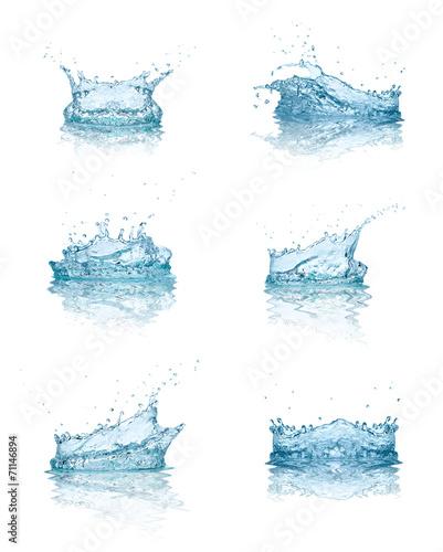 water splash drop blue liquid Fototapete