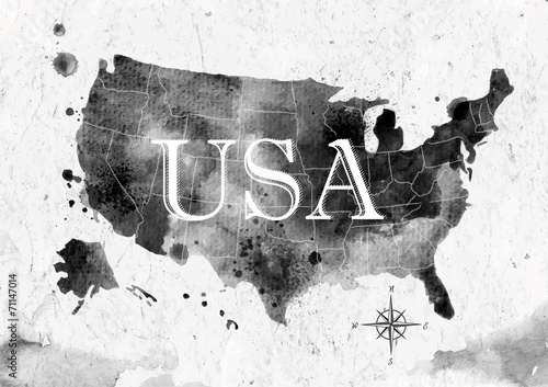 Fototapeta  Ink United States map