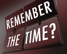 Remember The Time Words Clock ...