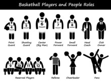Basketball Players Team Cliparts