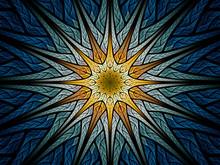Multicolor Glowing Star Ornament