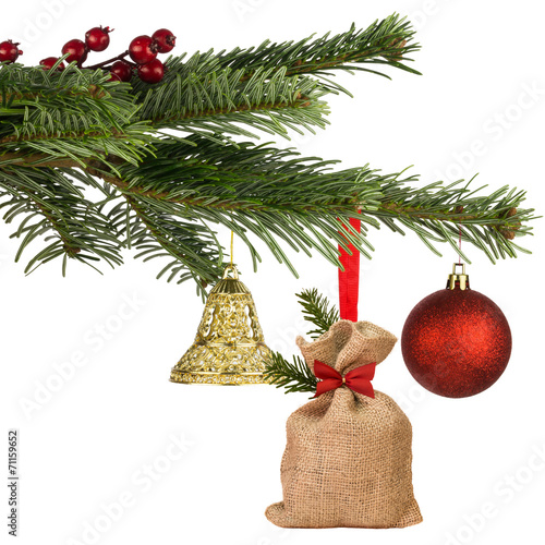 Weihnachtsbilder Tannenzweig.Geschmückter Tannenzweig Buy This Stock Photo And Explore Similar