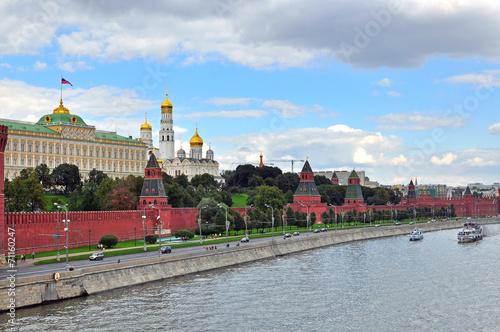 Panorama of Moscow Kremlin Canvas Print