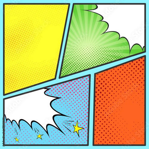 Pop-art comic page sheet template - Buy this stock vector and ...