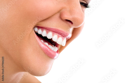 Obraz Beautiful woman smile - fototapety do salonu